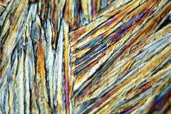 Θειικό άλας χαλκού κάτω από το μικροσκόπιο Στοκ Εικόνες
