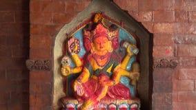 Θεοί Hinduism στο παλαιό πόλης ναυπηγείο, Katmandu, Νεπάλ απόθεμα βίντεο