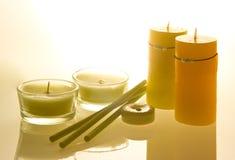 θεραπεία κεριών αρώματος Στοκ Εικόνες