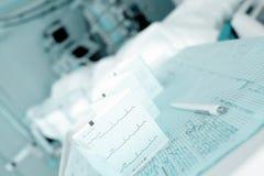 Θεραπευτικά και διαγνωστικά αρχεία στο νοσοκομείο Στοκ Φωτογραφίες