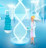 Θεραπεύοντας ασθένειες με την έκδοση της διανυσματικής έννοιας DNA απεικόνιση αποθεμάτων