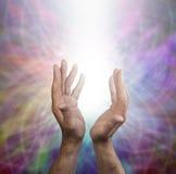 Θεραπεύοντας ενέργεια ουράνιων τόξων Στοκ φωτογραφία με δικαίωμα ελεύθερης χρήσης