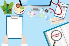 Θεραπεύοντας καρδιαγγειακό διάνυσμα έννοιας ασθενειών Στοκ Εικόνες