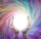 Θεραπεύοντας κύκλος του φωτός στοκ εικόνες με δικαίωμα ελεύθερης χρήσης