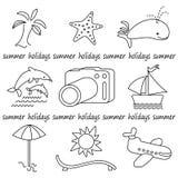 Θερινά εικονίδια Στοκ φωτογραφίες με δικαίωμα ελεύθερης χρήσης