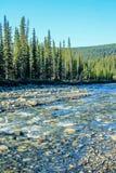 Θερινά νερά στον κολπίσκο, επαρχιακή περιοχή αναψυχής βόρειων φαντασμάτων, Αλμπέρτα, Καναδάς στοκ εικόνα