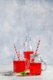 Θερινά ποτά σμέουρων Στοκ Εικόνες