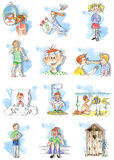 θερινά προβλήματα παιδιών στοκ εικόνες