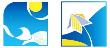 θερινά σύμβολα χρώματος Στοκ Φωτογραφίες