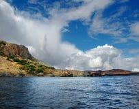 Θερινά σύννεφα πέρα από τη Μαύρη Θάλασσα, η Κριμαία Στοκ εικόνα με δικαίωμα ελεύθερης χρήσης