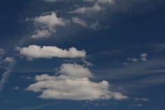 Θερινά σύννεφα στο Βερολίνο και το Βραδεμβούργο, Γερμανία Στοκ Εικόνες