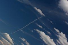 Θερινά σύννεφα στο Βερολίνο και το Βραδεμβούργο, Γερμανία Στοκ Φωτογραφία