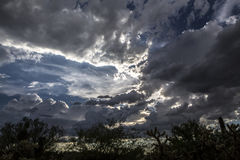 Θερινά σύννεφα Στοκ Εικόνες