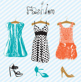 Θερινά φορέματα μόδας. Στοκ εικόνες με δικαίωμα ελεύθερης χρήσης