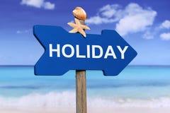 Θερινές διακοπές διακοπών με την παραλία Στοκ Εικόνες
