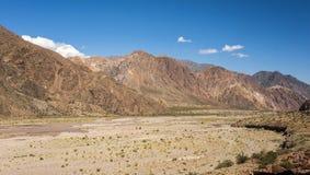 Θερινή άποψη ενός στεγνωμένου thaw ποταμού στοκ φωτογραφία με δικαίωμα ελεύθερης χρήσης