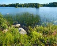 Θερινή άποψη λιμνών (Φινλανδία). στοκ εικόνες με δικαίωμα ελεύθερης χρήσης