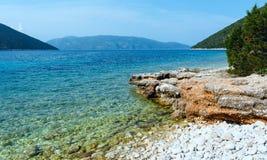 Θερινή άποψη παραλιών Antisamos (Ελλάδα, Kefalonia) Στοκ εικόνες με δικαίωμα ελεύθερης χρήσης