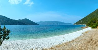 Θερινή άποψη της παραλίας Antisamos (Ελλάδα, Kefalonia) Στοκ φωτογραφίες με δικαίωμα ελεύθερης χρήσης
