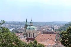 Θερινή άποψη της Πράγας στοκ εικόνα με δικαίωμα ελεύθερης χρήσης