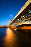 Θερινή άσπρη νύχτα στη Annunciation γέφυρα Άγιος-Πετρούπολη Στοκ φωτογραφία με δικαίωμα ελεύθερης χρήσης