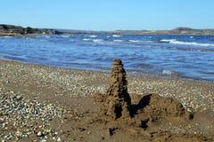 Θερινή ακτή της θάλασσας Azov Στοκ φωτογραφία με δικαίωμα ελεύθερης χρήσης