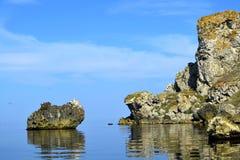 Θερινή ακτή της θάλασσας Azov Στοκ εικόνα με δικαίωμα ελεύθερης χρήσης