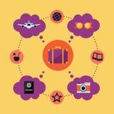 Θερινή αφίσα με τα διαφορετικά στοιχεία απεικόνιση αποθεμάτων