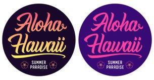Θερινή εγγραφή Aloha Χαβάη απεικόνιση αποθεμάτων