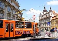 Θερινή εικονική παράσταση πόλης στην Πράγα Στοκ Εικόνες