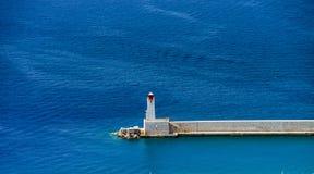 Θερινή ημέρα στη Νίκαια, Γαλλία, υπόστεγο d'Azur Στοκ Φωτογραφία