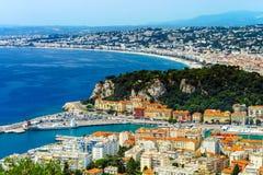 Θερινή ημέρα στη Νίκαια, Γαλλία, υπόστεγο d'Azur Στοκ φωτογραφίες με δικαίωμα ελεύθερης χρήσης