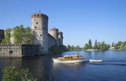 Θερινή ημέρα στο φρούριο Savonlinna Φινλανδία στοκ φωτογραφία