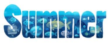 Θερινή θάλασσα στοκ εικόνες με δικαίωμα ελεύθερης χρήσης