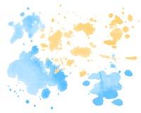 Θερινή διάθεση Διανυσματικές ζωηρόχρωμες σταγόνες Watercolor Στοκ φωτογραφίες με δικαίωμα ελεύθερης χρήσης