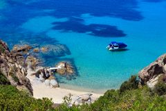 Θερινή παραλία Halkidiki, Ελλάδα Στοκ Φωτογραφίες