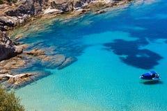Θερινή παραλία Halkidiki, Ελλάδα Στοκ Εικόνες