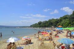 Θερινή παραλία άποψη-Βάρνα Βουλγαρία Στοκ εικόνες με δικαίωμα ελεύθερης χρήσης