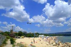 Θερινή παραλία, Βάρνα Βουλγαρία Στοκ Φωτογραφίες