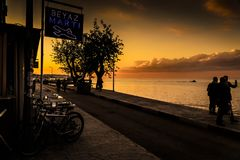 Θερινή πόλη στην Τουρκία με τον παράξενο καιρό Στοκ Φωτογραφίες