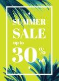 Θερινή πώληση επάνω στο TU 30 τοις εκατό μακριά Ιστός-έμβλημα ή αφίσα με το wat Στοκ φωτογραφίες με δικαίωμα ελεύθερης χρήσης