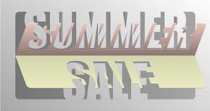Θερινή πώληση - μήνυμα πληροφοριών για τους πελάτες Στοκ Εικόνες
