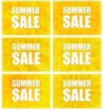 Θερινή πώληση - σύνολο έξι παραλλαγών Στοκ εικόνες με δικαίωμα ελεύθερης χρήσης