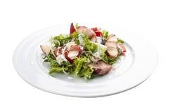 Θερινή σαλάτα με το ροδάκινο, το μπέϊκον και το arugula στοκ φωτογραφία με δικαίωμα ελεύθερης χρήσης