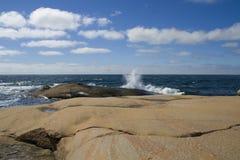 θερινή σουηδική δύση ακτών Στοκ Φωτογραφία