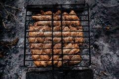 Θερινή σχάρα με το κοτόπουλο γεύμα Στοκ Φωτογραφία