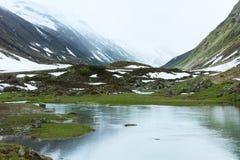 Θερινή όψη Άλπεων Silvretta, Αυστρία Στοκ Φωτογραφίες