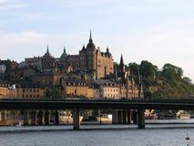 θερινή όψη της Στοκχόλμης Στοκ Εικόνες