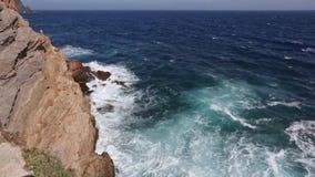 Θερινή δύσκολη ακτή Κόστα Μπλάνκα, Ισπανία φιλμ μικρού μήκους