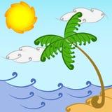 Θερινή stiyle παραλία Στοκ εικόνα με δικαίωμα ελεύθερης χρήσης